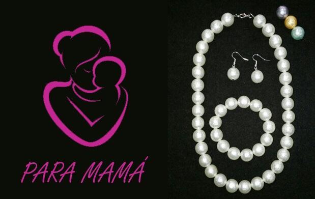 Precioso conjunto de perlas para el día de la madre