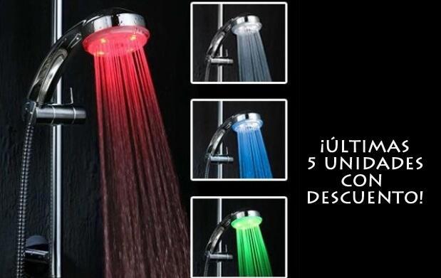 Ducha con LED de colores