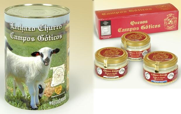 ½ Lechazo Churro y 3 cremas de queso 64€