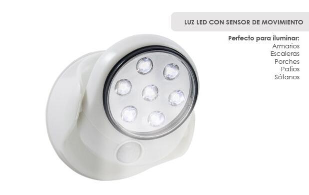 Luz LED con sensor de movimiento