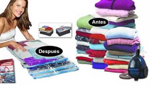 Pack 5 bolsas para guardar ropa al vac o por 12 5 for Bolsas para guardar ropa