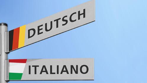 Dos meses de clases presenciales de italiano o alemán