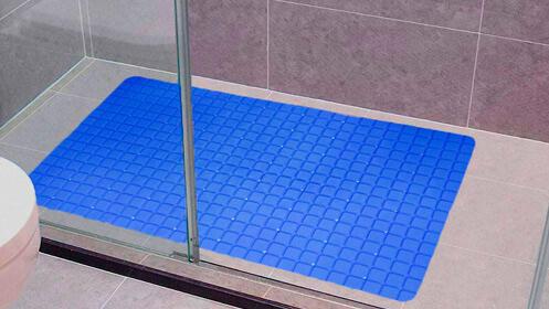 Alfombrilla de baño, modelo cuadrícula