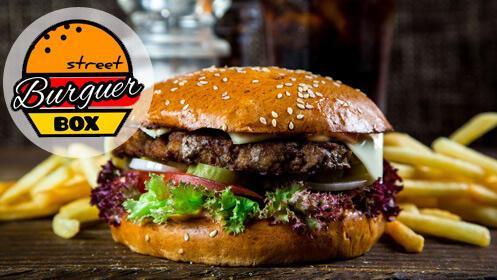 Dos menús de hamburguesa en el nuevo Street Burguer Box