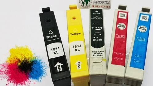 Pack 5 cartuchos de impresora para la vuelta al cole