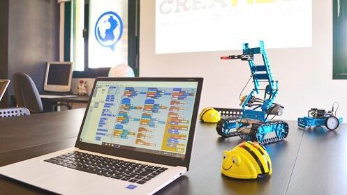 Taller para niños para programar un robot