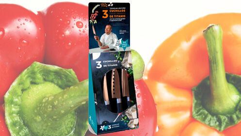 Pack de 3 cuchillos con recubrimiento de titanio