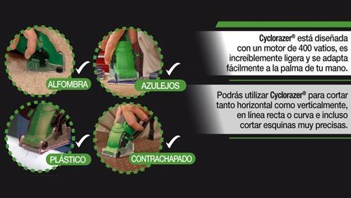 Cyclorazer, sierra circular ¡ahorra tiempo, esfuerzo y dinero!