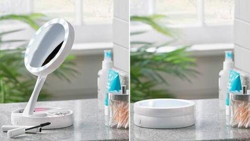 Espejo de aumento con luces LED