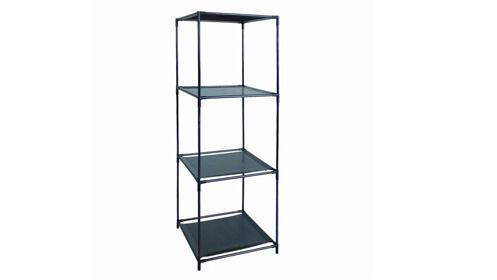 Estantería negra de cubos, 4 estantes