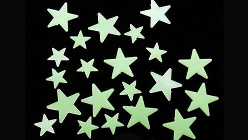 Pack de 16 estrellas fluorescentes