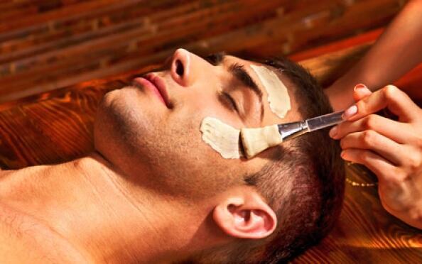 Higiene facial masculina en el centro