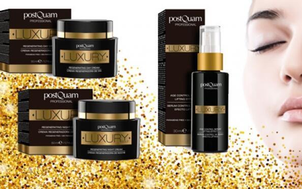 Cuidado facial Luxury Gold: crema de día, crema de noche o sérum