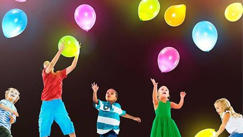 Set de 10 globos con iluminación LED