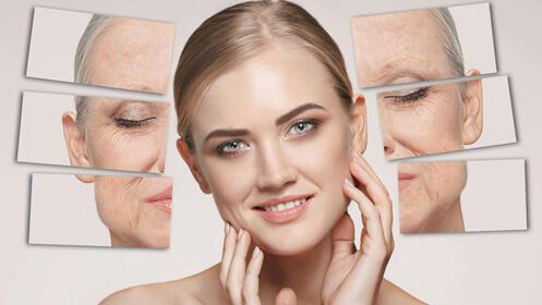 Radiofrecuencia facial con mascarilla de colágeno