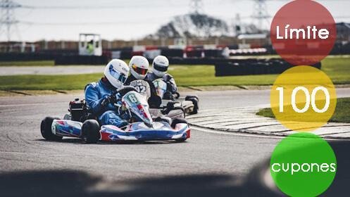 Diversión y emoción en esta tanda de karting
