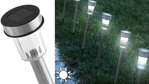 Pack de 7 lámparas solares Torch Garden