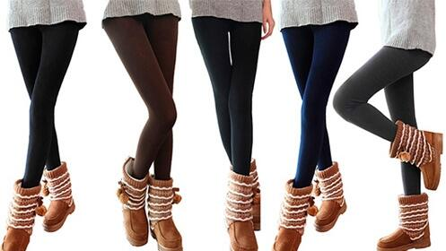 Pack de seis leggings en colores variados