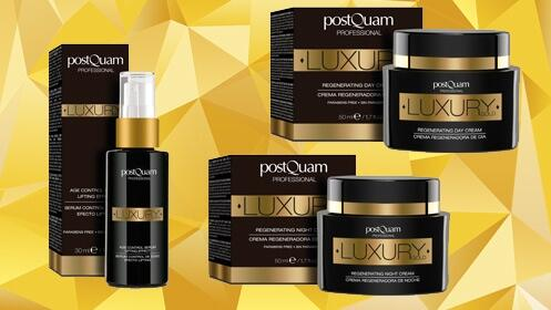 Crema de día, crema de noche o sérum Luxury Gold
