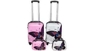 Maleta + neceser de última generación, modelo mariposas