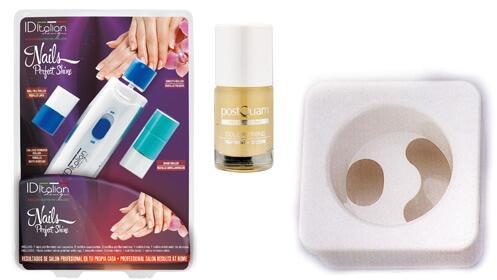 Set uñas perfectas con lima eléctrica, bol y tratamiento calcio
