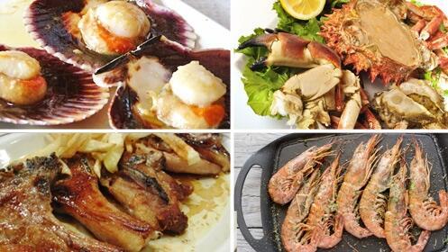 Gran menú de marisco y chuletillas de lechazo para 2