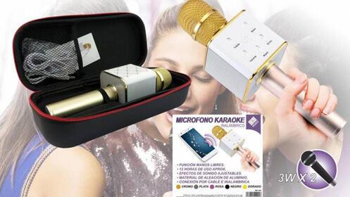 Micrófono con karaoke y altavoz incorporado