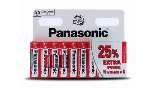 Pack de 10 pilas LR6 AA Panasonic
