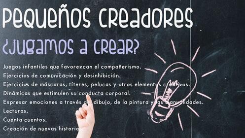 Taller 'Pequeños creadores' para niños de 2 a 5 años