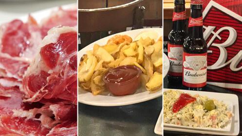 Jamón, ensaladilla y patatas tres salsas ¡todo 12,90€!