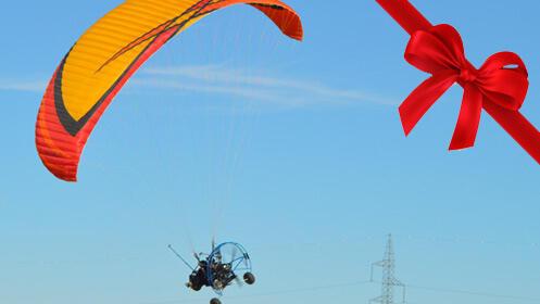 Sorpresa por Navidad, la experiencia de volar en parapente