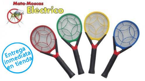 Raqueta mata moscas y mosquitos eléctrica