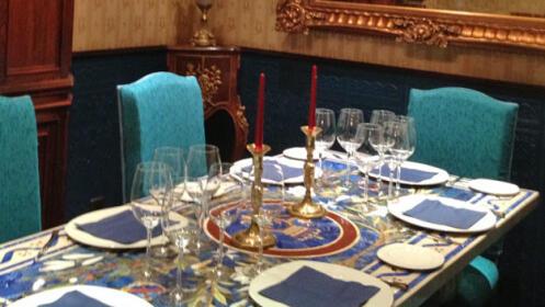 Evento gastronómico, cena con maridaje en el centro