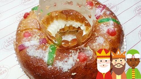 Roscón de Reyes artesanal