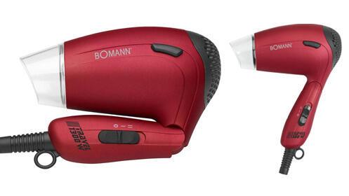 Bomann secador de viaje con difusor HTD8005