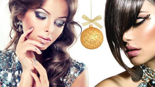 Especial fiestas de Navidad: peinado, maquillaje y manicura