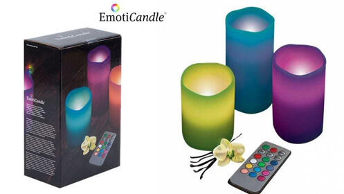 Pack de 3 velas LED EmotiCandle