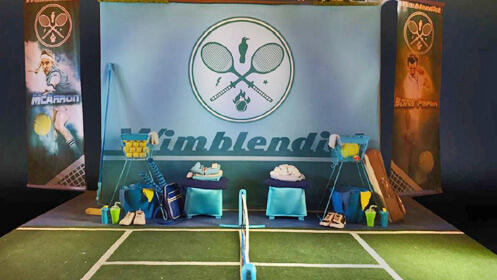 'Wimblendiot' Tennis clown show en el Teatro Cervantes